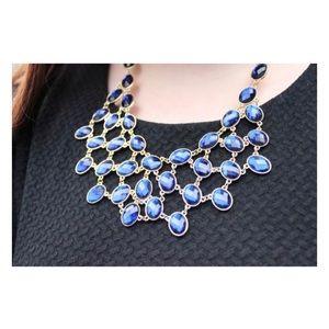 BaubleBar Royal Blue Statement Necklace